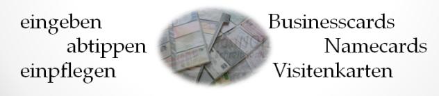 Standard-Visitenkarten erfassen in Excel