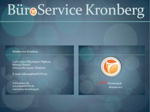 Impressum BüroService Kronberg