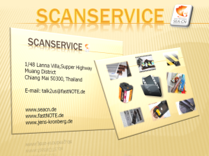 Unser Scanservice - Negative scannen