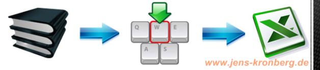 Büroservice Angebot Adressen aus Adresskatalogen in Excel eingeben