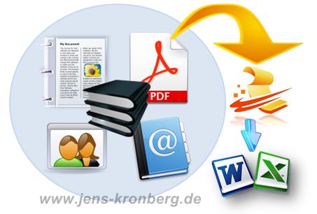 Büroservice Angebot Textdateien abschreiben und in Word, Excel speichern