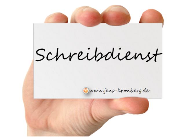 Ihr Schreibdienst BüroService Kronberg & fastNOTE SchreibService