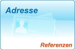 Büroservice - Referenzen von unseren Kunden: Adresseingabe