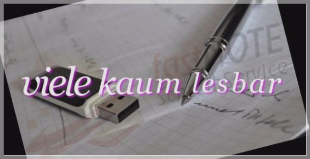 Büroservice Angebot handschriftliche Aufzeichnungen abtippen