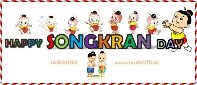 fastNOTE SchreibService wünscht Happy Songkran 2012