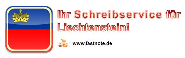 Ihr Schreibservice für Liechtenstein