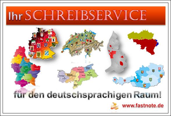 Ihr Schreibservice für den deutschsprachigen Raum