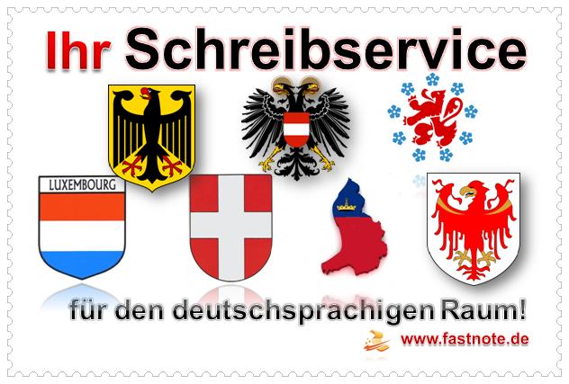 Schreibservice für den deutschsprachigen Raum