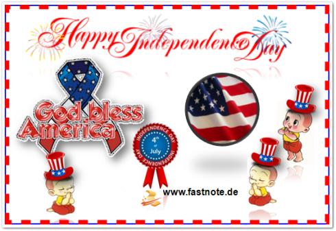 fastNOTE SchreibService gratuliert zum Independence Day 2012