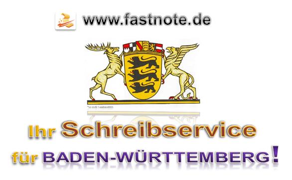Ihr Schreibservice für Baden-Württemberg