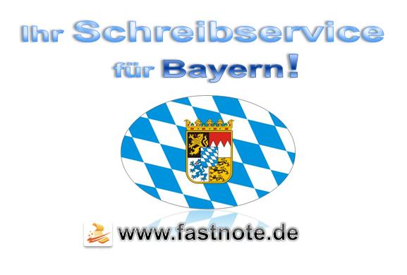 Ihr Schreibservice für Bayern