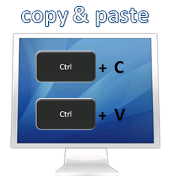 Schreibarbeiten - Adressen und Daten per Copy & Paste übertragen