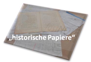 Beschädigte, historische Papiere speichern