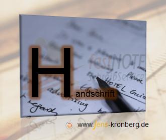Schreibservice Glossar H - Handschrift