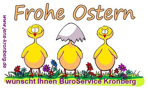 BüroService Kronberg wünscht Frohe Ostern 2014