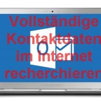 Vollständige Kontaktdaten im Internet recherchieren
