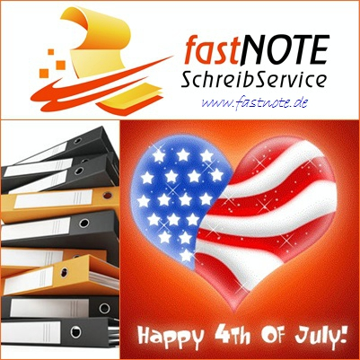 Independence Day 2015 fastNOTE SchreibService