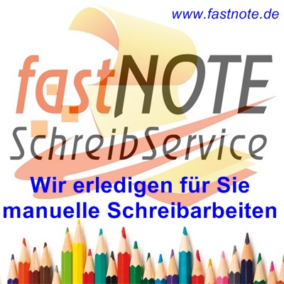 fastNOTE SchreibService manuelle Schreibarbeiten