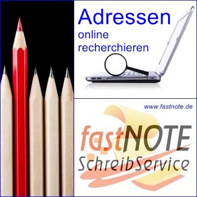 Adressen online nachrecherchieren
