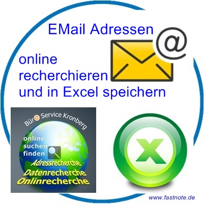 Email Adressen online nachrecherchieren