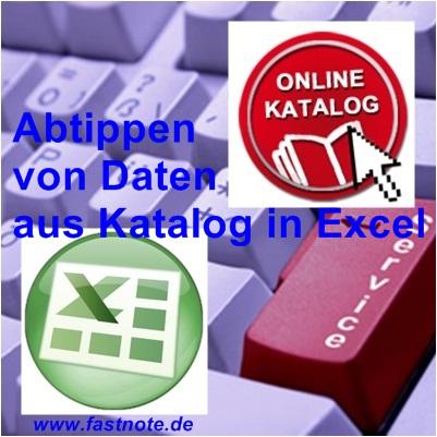 Abtippen von Daten aus Katalog in Excel