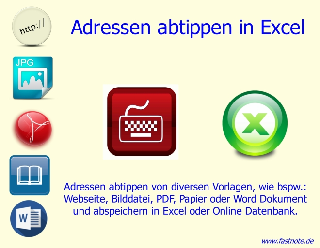 Adressen abtippen in Excel