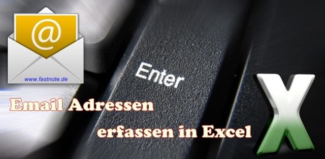 Email Adressen erfassen in Excel