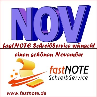 fastNOTE SchreibService wünscht einen schönen November