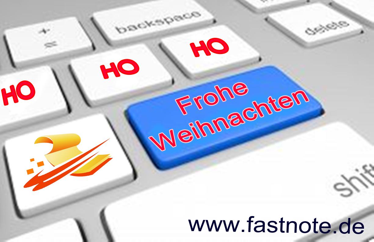 22.12.2015 Frohe Weihnachten fastNOTE SchreibService