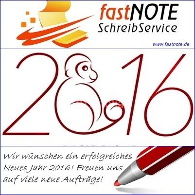 01.01.2016 fastNOTE SchreibService 2016 Jahr des Affen.jpg