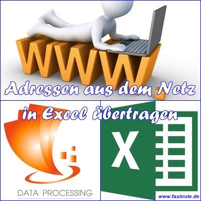 07.01.2015 Adressen aus dem Netz in Excel übertragen