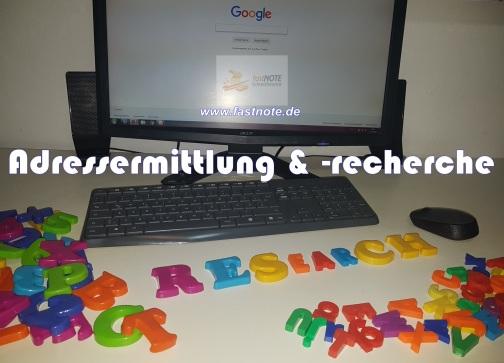 Adressermittlung & -recherche fastNOTE SchreibService