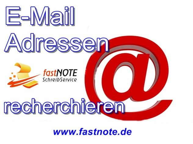E-Mailing E-Mail Adressen online recherchieren