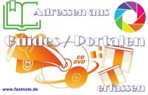 Adressen aus Guides oder Portalen erfassen